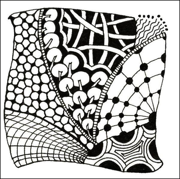 A Classic Zentangle Tangle Tangle Tangle
