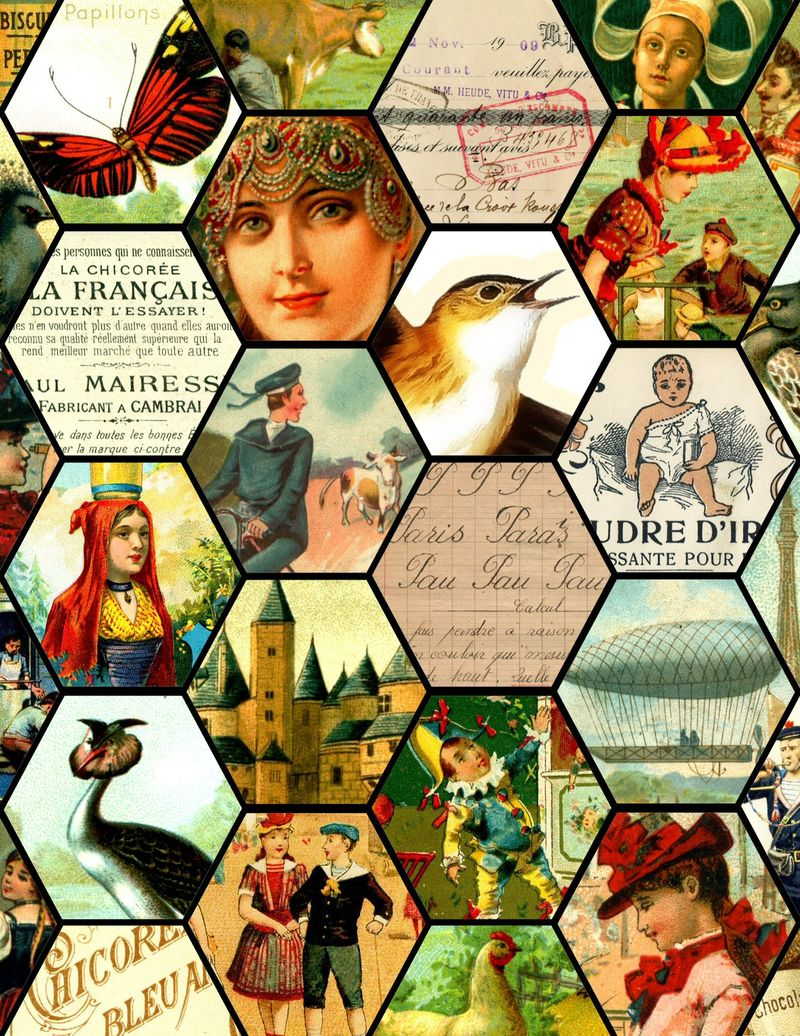 French collage