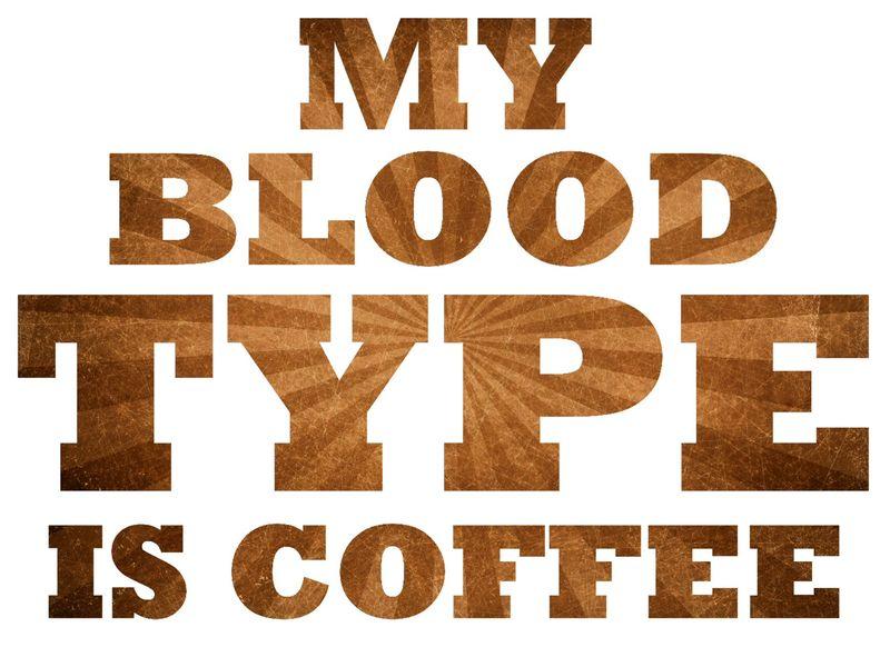 Blood type coffee